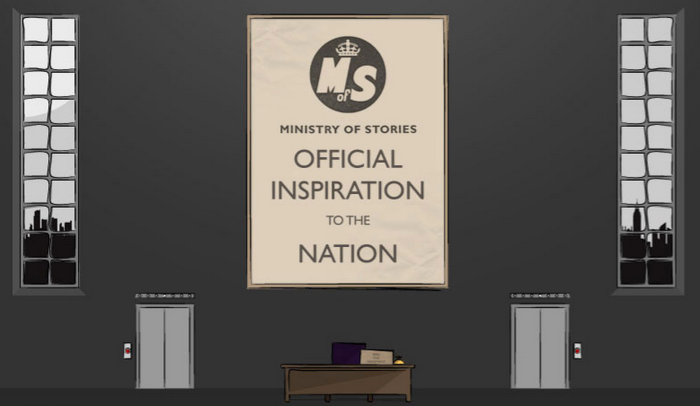 Ministry of Stories, Official Inspiration to the Nation
